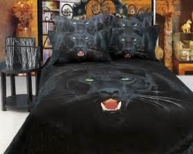 Washing Machine Duvet Black Panther King Size Animal Themed Luxury Bedding Set