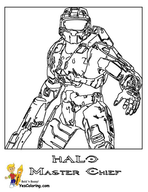 halo men colouring pages