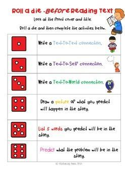 printable guided reading dice 17 best images about dice activities for guided reading on