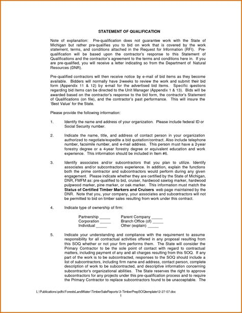 11 how to write statement of qualifications lease template