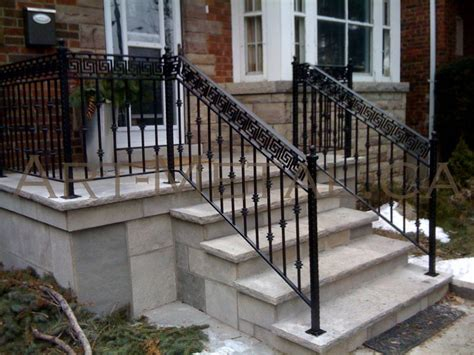 Outside Banister Railings by Exceptional Wrought Iron Stair Railings Exterior 4