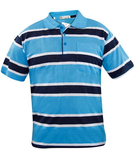 Big Stripe Pocket 2 new mens yarn dyed stripe polo sleeve pocket t shirt casual button top ebay