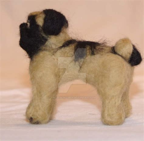 needle felted pug needle felted pug by the goblinqueen on deviantart