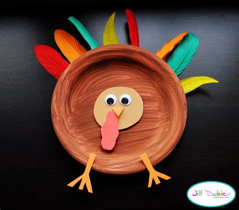 Paper Plate Turkey Crafts - paper plate turkeys family crafts
