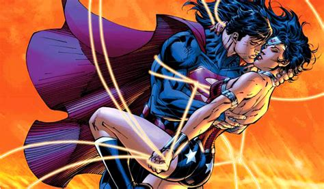 Off my mind why superman and wonder woman s kiss makes sense for now comic vine