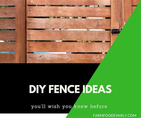 cheap  easy diy fence ideas   backyard