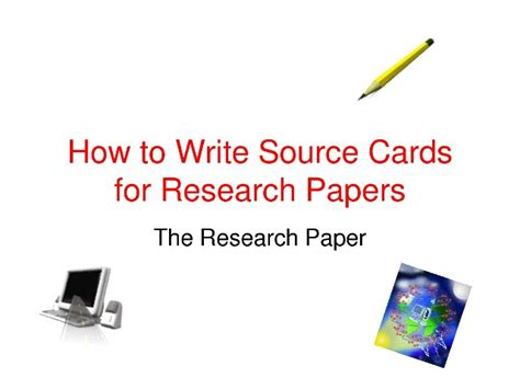 How To Make Source Cards For A Research Paper - card paper research source