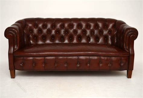 Antique Chesterfield Sofas Antique Swedish Leather Chesterfield Sofa Antiques Atlas