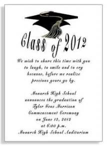 graduation invitation wording exles kawaiitheo