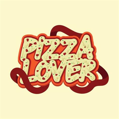 Pizza Lover pizza lover typography design free vector
