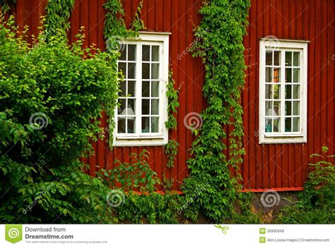 Home Design Exterior App Red Wooden House Royalty Free Stock Images Image 35905949