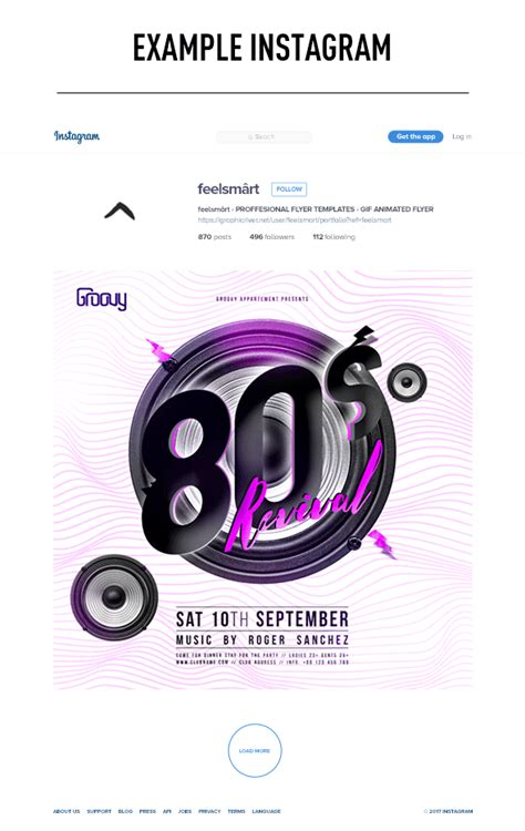 80s Revival Flyer Template Gif Action By Feelsmart Animated Flyer Templates