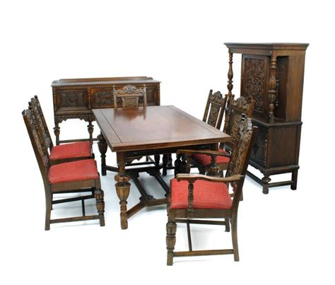 jacobean style dining room set