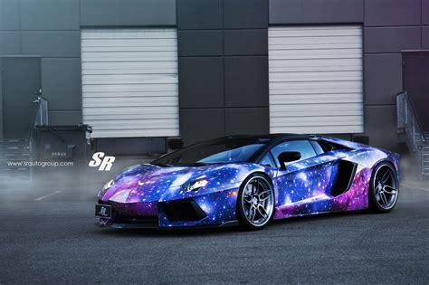 Galaxy Lamborghini Aventador Roadster Sits on ADV.1 Wheels