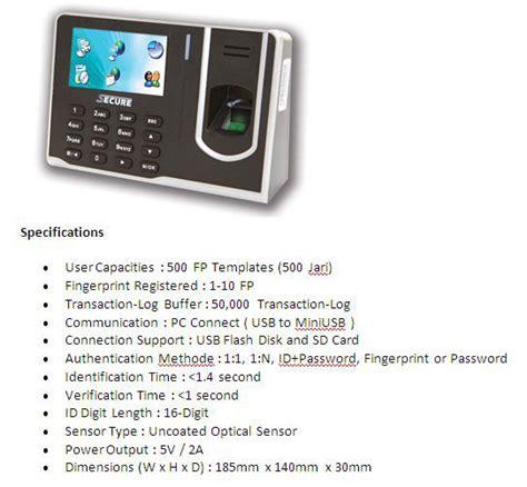 Mesin Absensi Sidik Jari Secure fingerprint bandung mesin absensi sidik jari bandung