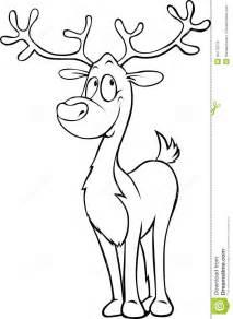 funny reindeer black outline illustration stock vector image 44776579