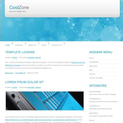 free cool website templates cool zone template free website templates in css html js
