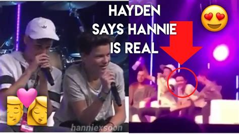 Says That With Hayden Was Not Real In Factory by Hayden Says Hannie Is Real On Stage