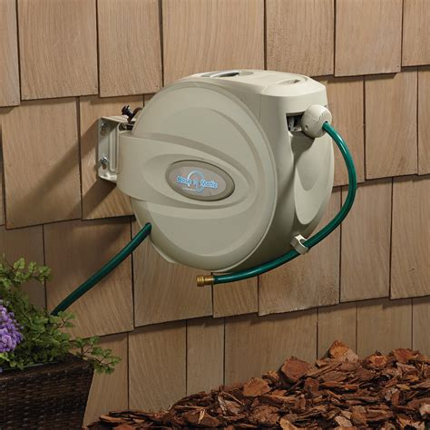 Hose A Matic Wall Mount Garden Hose Reel Holds 5 8in X Garden Hose Wall Mount Reel
