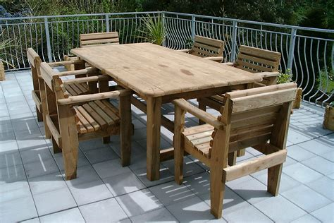 outdoor table with bench garden furniture