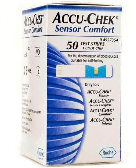 comfort test accu chek sensor comfort test strips 50 glucometer price