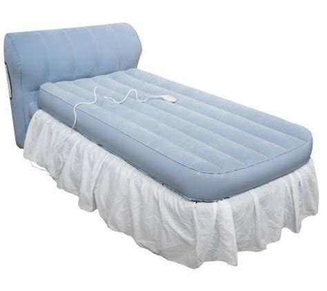 aerobed with headboard aerobed twin raised bed with headboard and dust ruffle