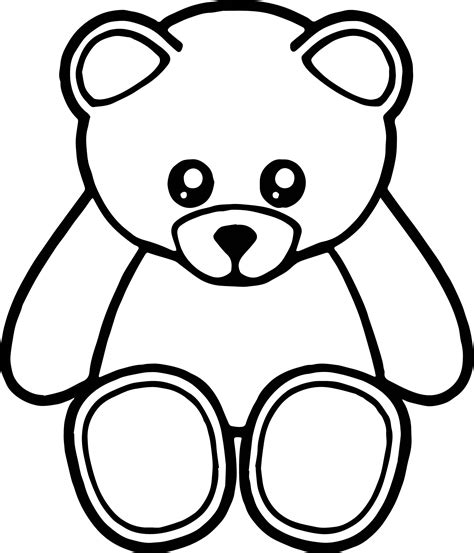 cute bear coloring page cute front view bear coloring page wecoloringpage