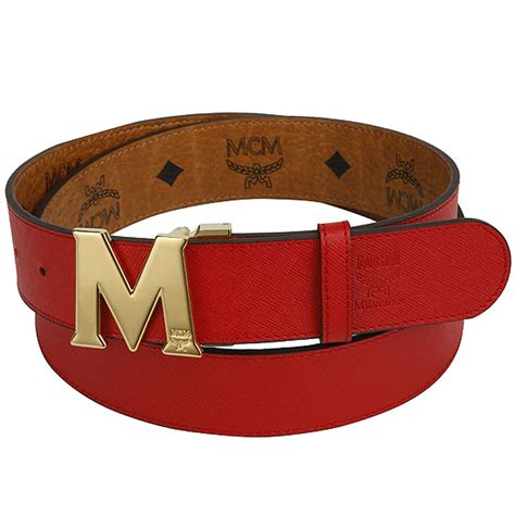 m logo designer belt mcm visetos belt m logo buckle cognac visetos and reversible new nwt ebay