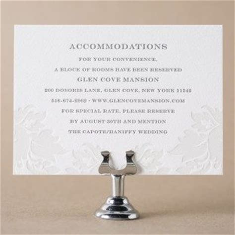 accommodation card template letterpress direction and accommodation cards from
