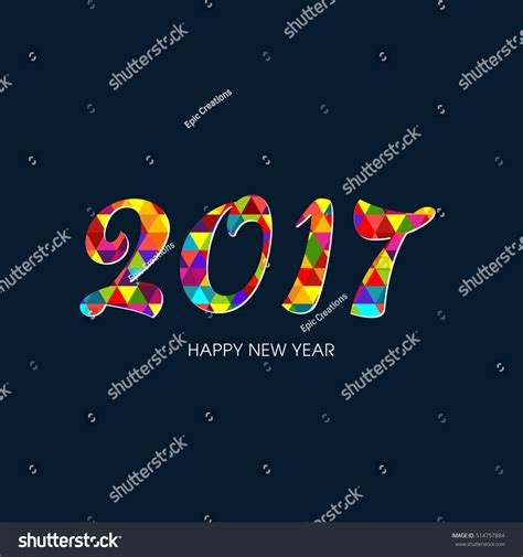 happy new year text vector happy new year 2017 text design vector 514757884