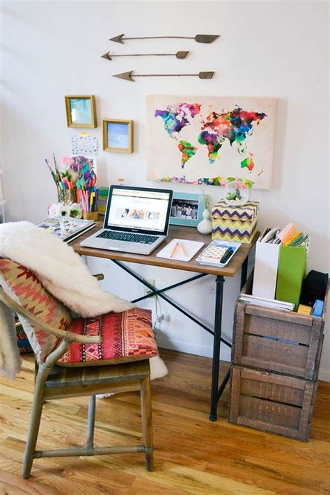 desk decorating ideas a tour of my nyc apartment office desks bohemian decor