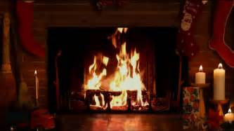 Yule Fireplace by Cozy Yule Log Fireplace With Crackling