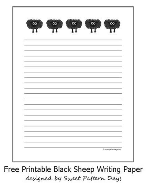 black writing paper five black sheep lined writing paper stationery