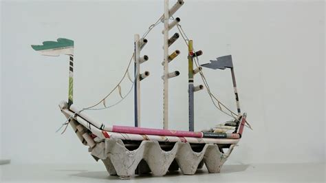 How To Make A 3d Ship Out Of Paper - diy newspaper crafts how to make pirate ship