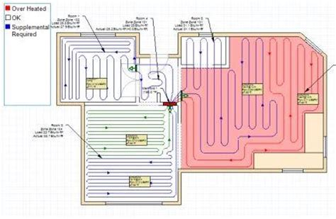 underfloor heating pipe layout design software radiant floor heat system design ambient floor heat