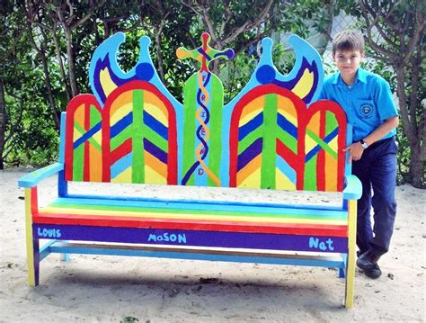 friendship bench school new benches offer a friendly space cayman compass