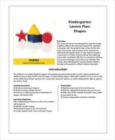 Go Math Lesson Plan Template by Sle Kindergarten Lesson Plan 8 Exles In Pdf