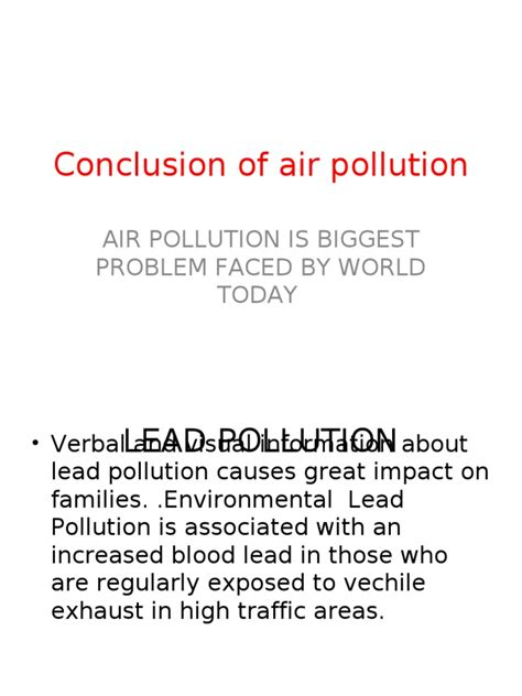 Air Pollution Essay Conclusion by Conclusion For Essay On Air Pollution Docoments Ojazlink