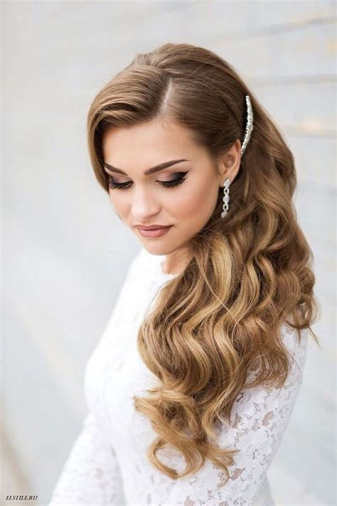 Bridal Side Hairstyles by Side Swept Glam Wedding Hairstyle