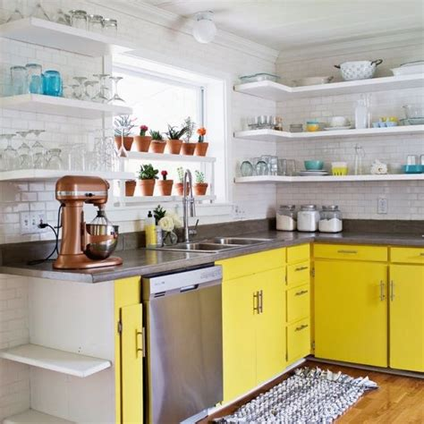 Kitchen Cabinets Open 22 Ideas For Styling Open Kitchen Shelves Brit Co