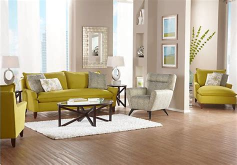 room to go for shop for a sofia vergara chartreuse 7 pc living room at rooms to go find living room