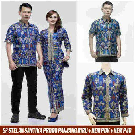 Kemeja Batik Kemeja Lengan Pendek Kemeja Pria Santika Size Jumbo jual baju batik sarimbit kebaya jumbo pasangan
