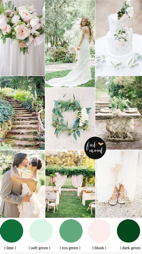 5 Wedding Themes by Nature Garden Wedding Theme Shades Of Green Blush