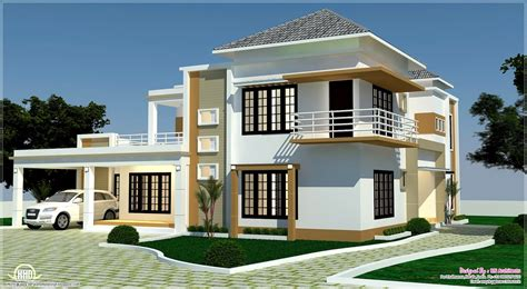 building houses with side views floor plan 3d views and interiors of 4 bedroom villa kerala home design and floor plans