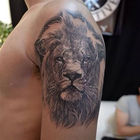 lion shoulder tattoos for men 75 shoulder tattoos