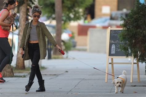 sarah hyland takes out her sarah hyland out walking her dog in los angeles celebzz