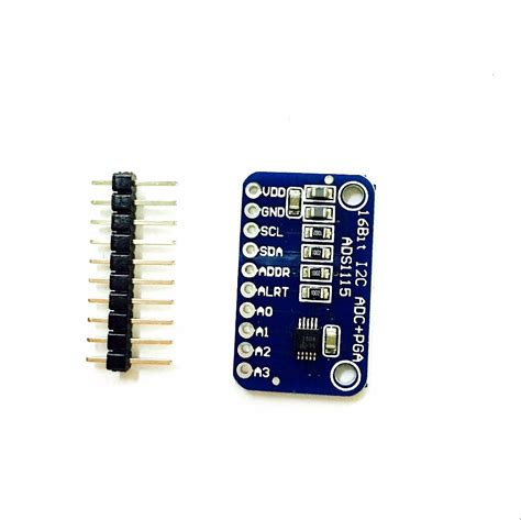 16bit I2c Ads111s Module Adc 4 Channel With Pro Gain Lifier Ardui 1pcs 16 bit i2c ads1115 module adc 4 channel with pro gain lifier for arduino rpi on