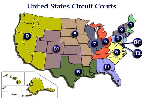 map us circuit courts of appeal map of the federal circuit courts