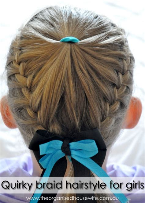 cool hairstyles for kids step by step quirky braid hairstyle for girls step by step