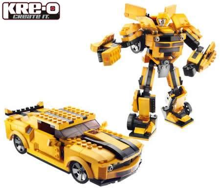 Micro Block Transformer Bumble Bee kre o transformers bumblebee block model 335 pieces